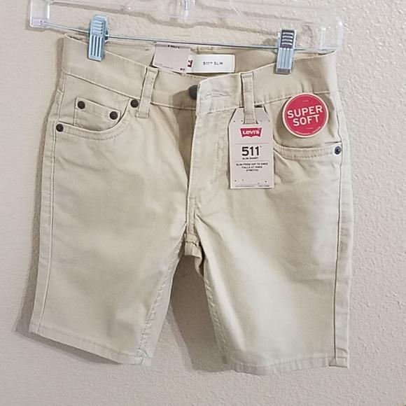 941ca58f2e Levi's Bottoms   Levis Boys 511 Slim Khaki Shorts Sz 8 Nwt   Poshmark